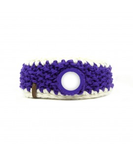 Headband purple-white