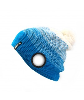 Warm Up Beanie turquoise-white